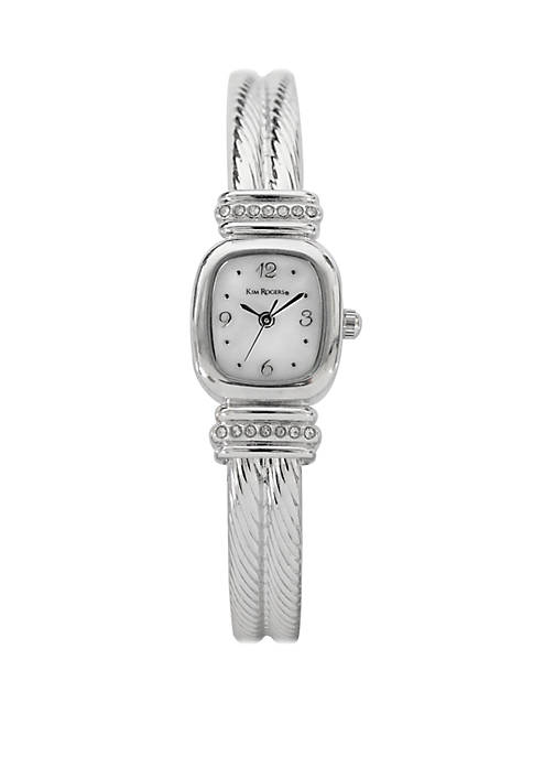 Mini Mother of Pearl Bangle Watch