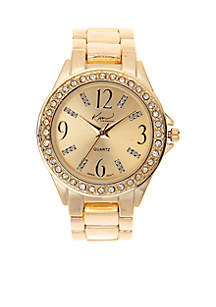 Gold Bracelet Watch with Gold Dial