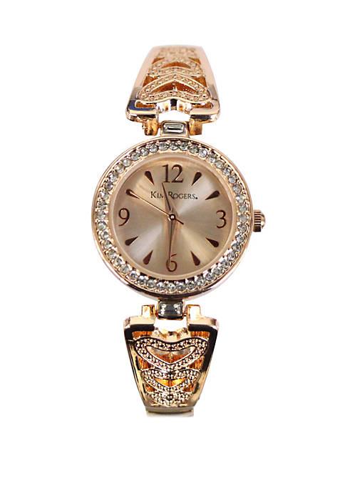 Kim Rogers® Heart Expansion Bracelet Watch