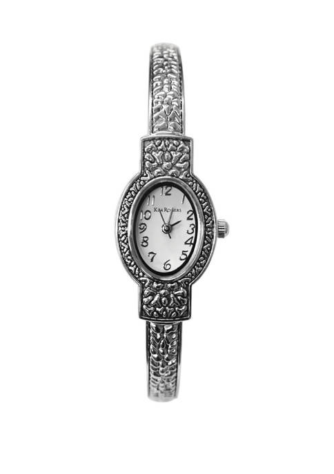 Womens 2 Tone Bangle Mini Case Watch