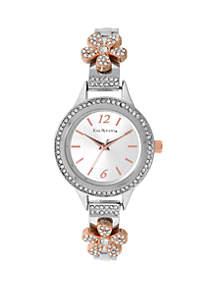 Women's Flower Accent Bracelet Watch