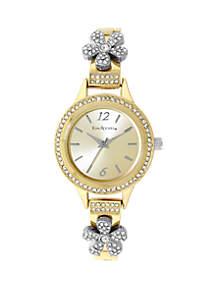 Kim Rogers® Women's Flower Accent Bracelet Watch