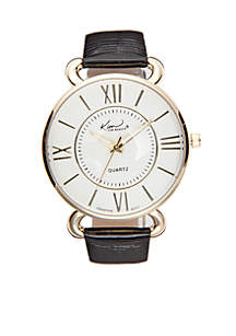 Women's Shiny Crocco Leather Strap Watch