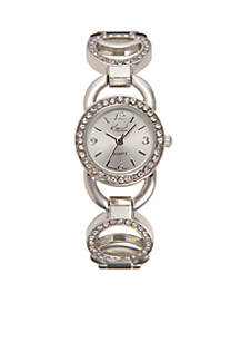 Women's Circular Glitz Silver-Tone Watch