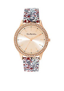 Rose Gold-Tone Paisley Strap Watch