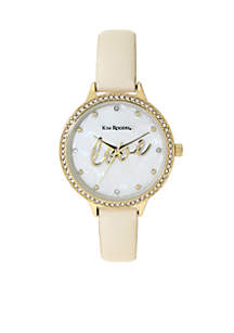 Gold-Tone Love Watch