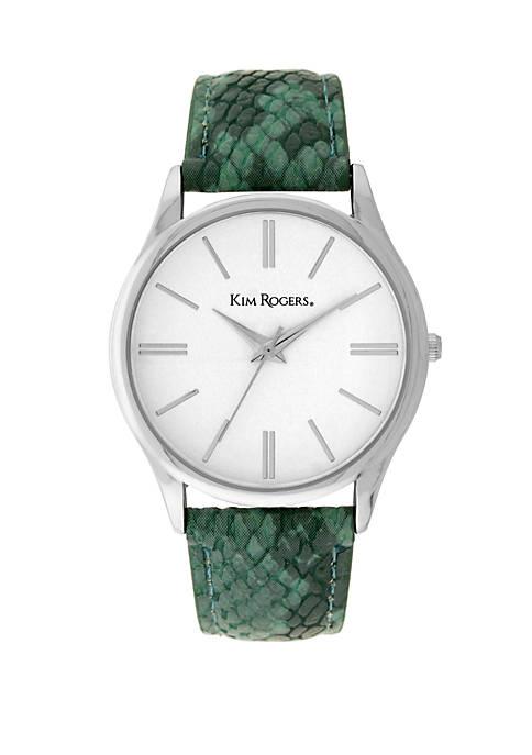 Croc Strap Watch