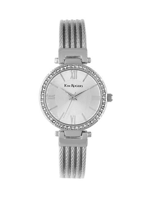 Kim Rogers® Half Bangle Glitz Watch