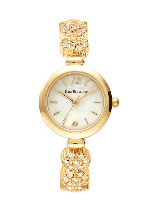 Kim Rogers® Gold Mother of Pearl Dial Mini