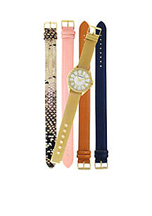 Mom's Day Gold Watch Set