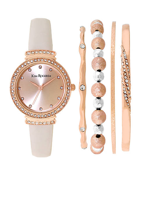 Kim Rogers® Rose Gold Bangle Set