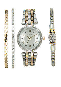 Two-Tone Watch and Bracelet Set