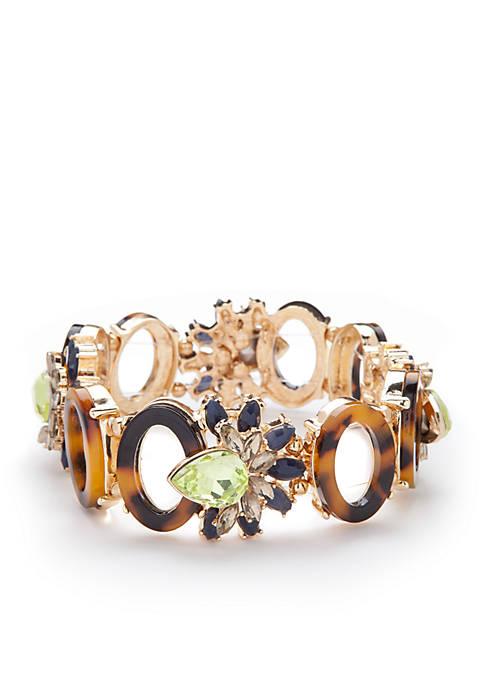 New Directions® Gold-Tone Tortoise Stretch Bracelet