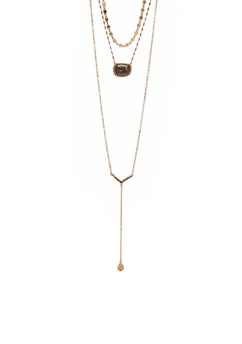 Gold-Tone Layered Necklace