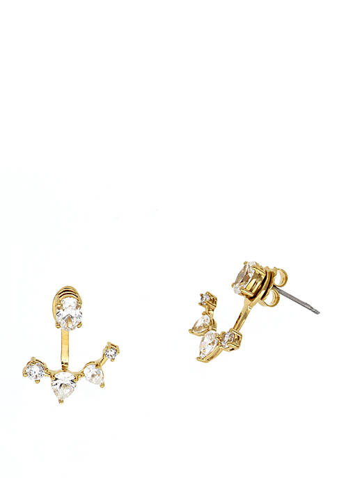 Daytime Cubic Zirconia Front Back Earring