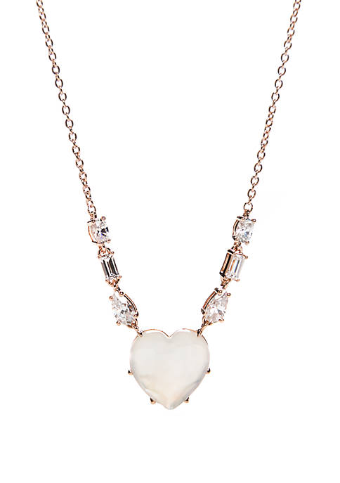Valentines Day Heart Frontal Necklace