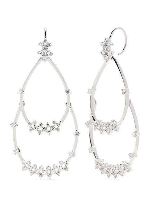 Double Drop Wire Earrngs