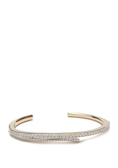 Nadri Ripple Split Open Cuff Bracelet