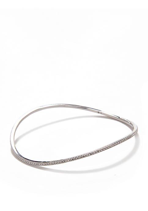 Nadri Crystal Wavy Bangle Bracelet