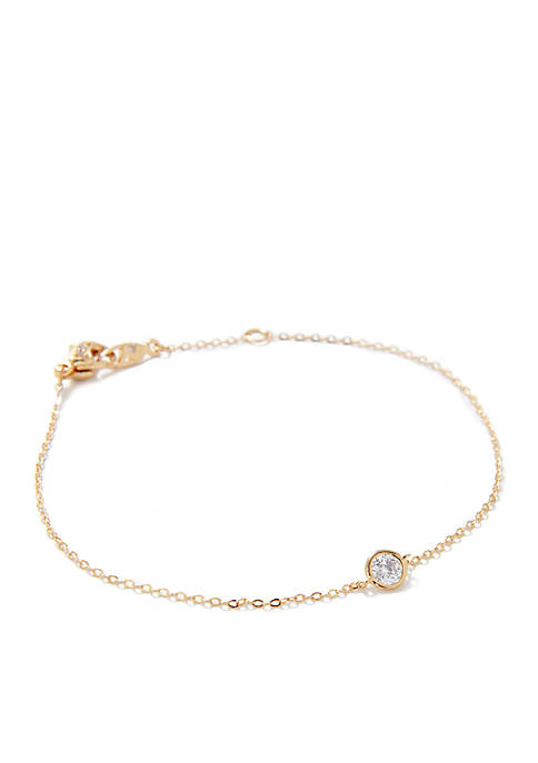 Nadri Gold Tone Line Bracelet
