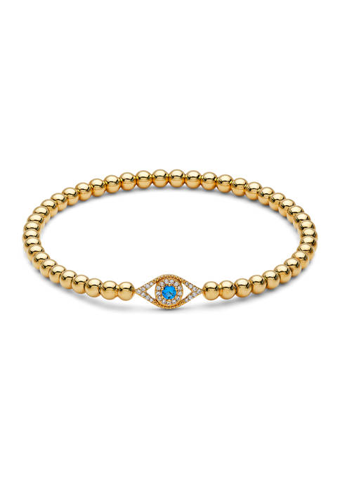 Nadri Evil Eye Stretch Beaded Bracelet