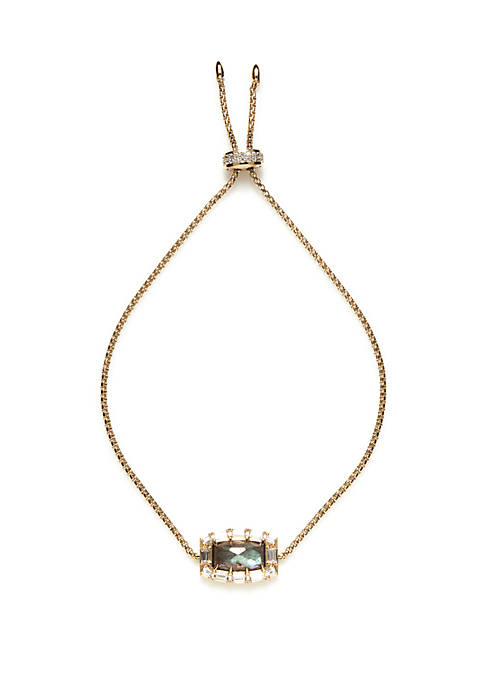 Nadri Gold-Tone Bolo Bracelet