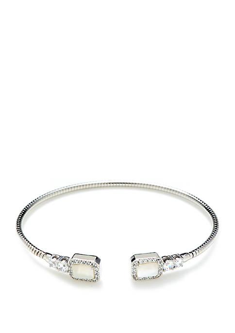 Silver-Tone Flex Cuff Bracelet