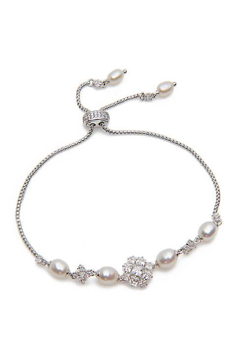 Tulle Pearl Bolo Bracelet