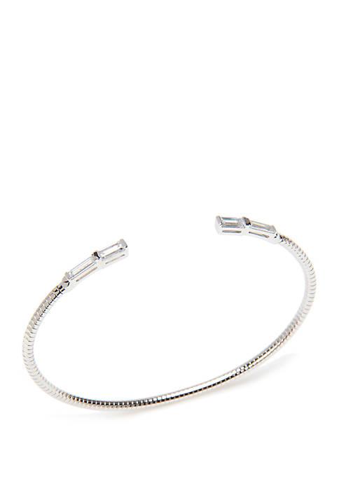 Nadri Mercer Cubic Zirconia Flexi Cuff Bracelet