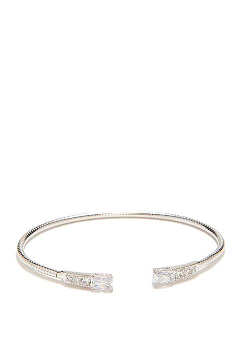 Cubic Zirconia Flexi Cuff Bracelet