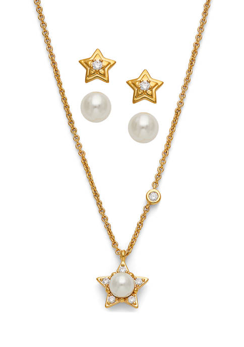 Star Earring and Necklace Set