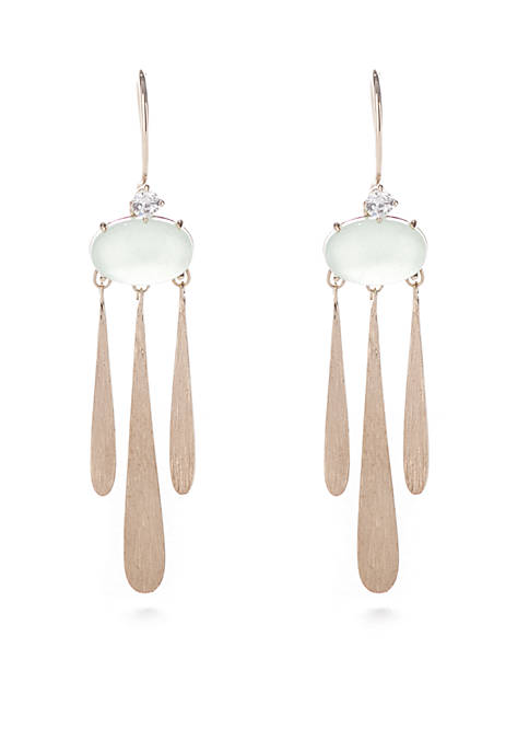Nadri Gold-Tone Palma Chandelier Wire Earring