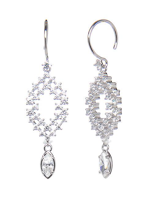Silver Tone Drop Earrings