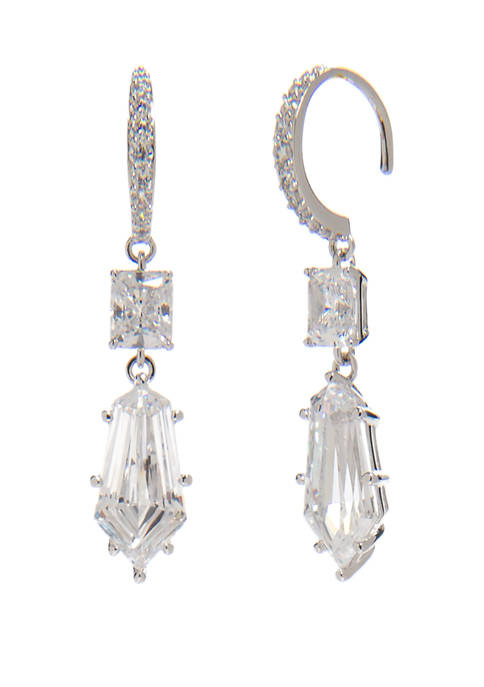Nadri Eliza Drop Wire Earrings