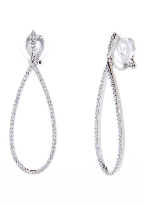 Nadri Open Drop Clip Earring