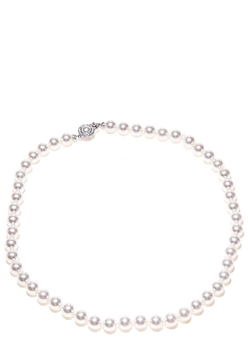 8-mm. 18-in. Pearl Framed Clasp Necklace