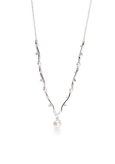 Pearl Drop Y Necklace