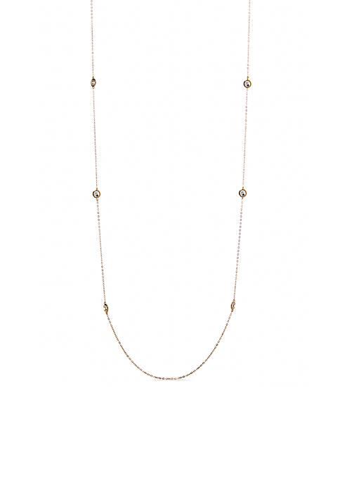 Nadri Long Gold-Tone Necklace