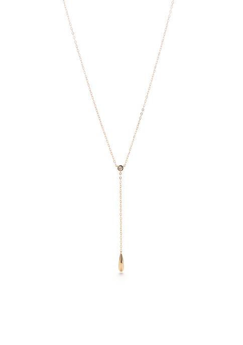 Nadri Gold-Tone Teardrop Y Necklace