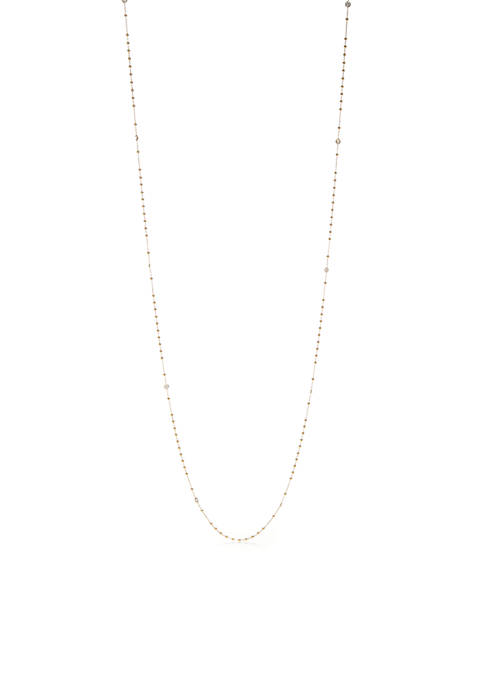 Nadri Gold-Tone Eyelet Cubic Zirconia Long Necklace
