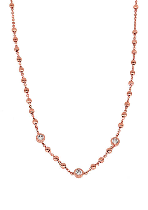 Nadri Rose-Gold Plated Cubic Zirconia Choker Necklace