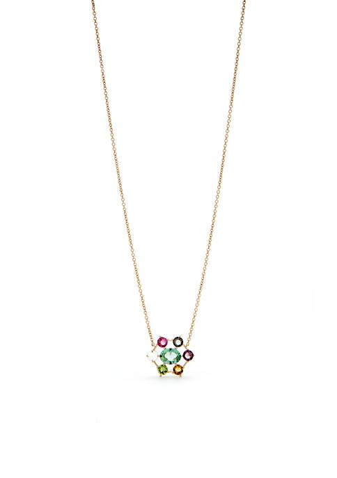 Nadri Gold-Tone Boca Multi Pendant Necklace