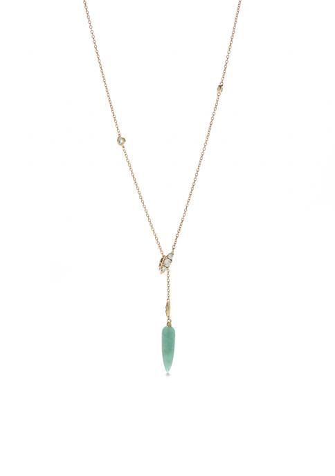 Nadri Gold-Tone Palma Adjustable Y Necklace