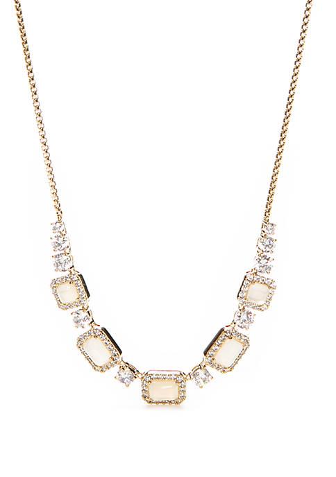 Nadri Gold Tone Frontal Necklace