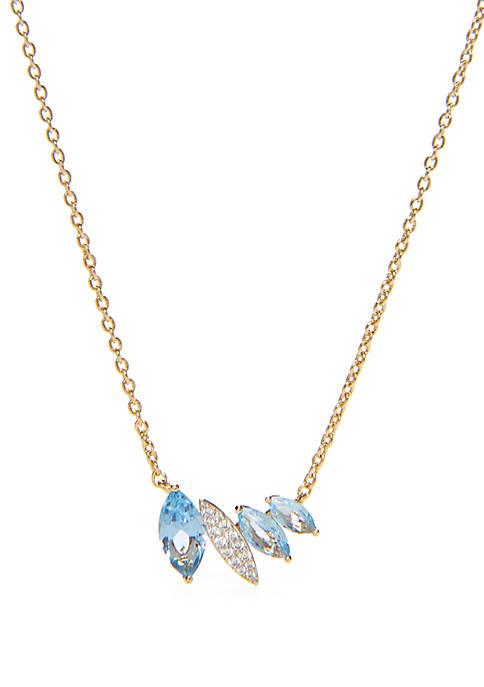 Nadri Breeze Bar Pendant Necklace