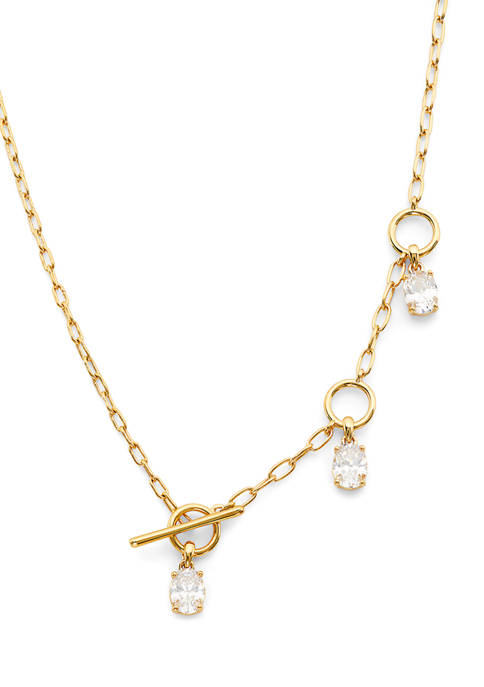 Lux Lariat Chain Toggle Necklace