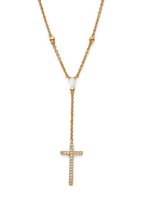 Nadri Adore Cross Y Necklace