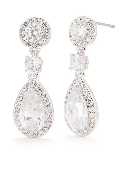 Nadri Crystal Drop Earring