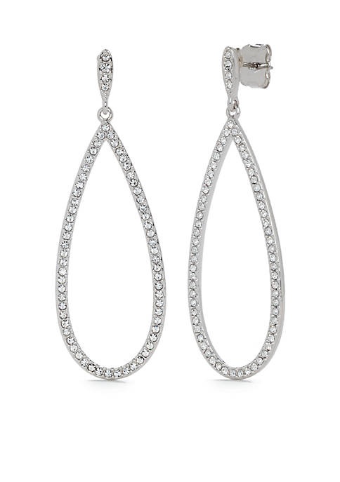 Nadri Pave Drop Post Earring