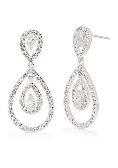 Nadri Drop Post Earring